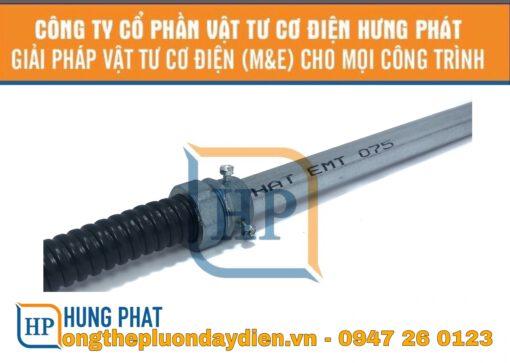 ống thép luồn dây điện trơn với ống ruột gà
