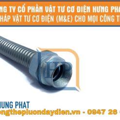 ống ruột gà lõi thép với đầu nối ống ren
