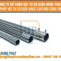 ống thép luồn dây điện trơn và khớp nối ống thép trơn